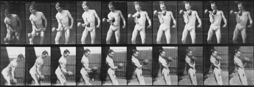 Consecutive Images Of Man Lifting A Dumbbell. From Eadweard Muybridge'S History - Item # VAREVCHISL012EC070