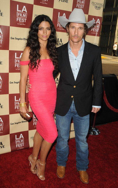 Camila Alves, Matthew Mcconaughey At Arrivals For Bernie Premiere, Regal Theatres At L.A. Live, Los Angeles, Ca June 16, 2011. Photo By Dee CerconeEverett Collection Celebrity - Item # VAREVC1116E03DX020