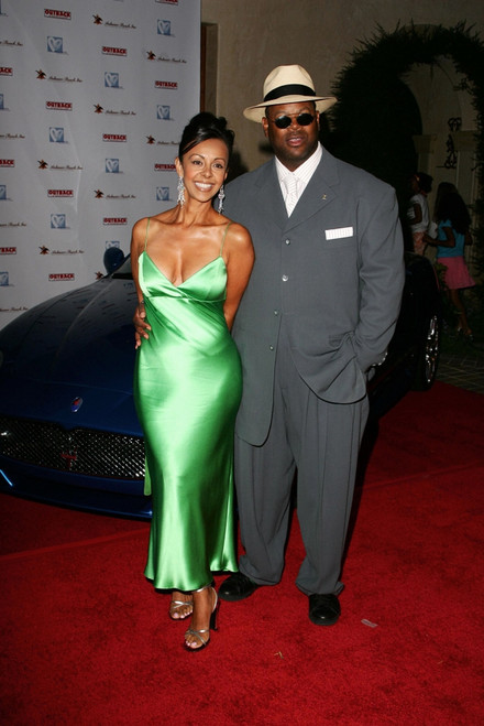 """Jimmy """"Jam"""" Harris, Wife Lisa At Arrivals For Hollyrod Designcure Benefit Fashion Show & Silent Auction, Home Of Sugar Ray Leonard, Los Angeles, Ca, July 09, 2005. Photo By Steve BondEverett Collection Celebrity - Item # VAREVC0509JLASV031"""