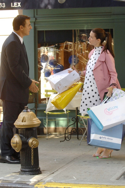 Chris Noth, Kristin Davis On Location For Sex And The City The Movie, Lexington & 71St Street In Manhattan, New York, Ny, September 20, 2007. Photo By George TaylorEverett Collection Celebrity - Item # VAREVC0720SPEUG014