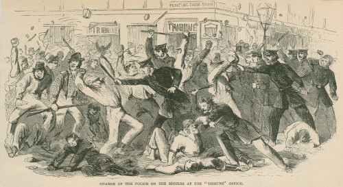 The Charge Of The New York City Police On The Draft Rioters At The Tribune Office. The Draft Riots Lasted From July 13-16 History - Item # VAREVCHISL009EC163