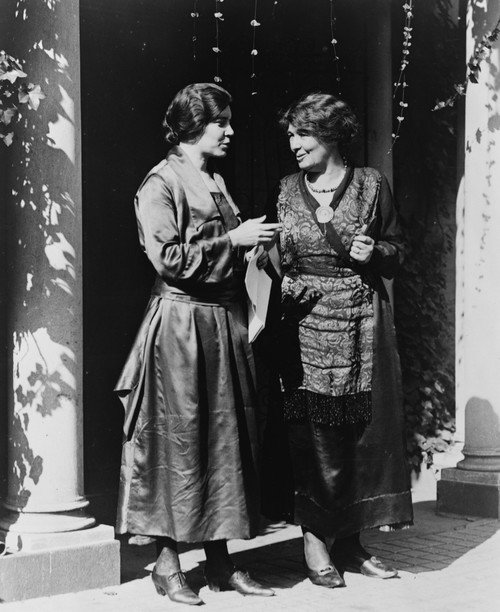 Alice Paul And Emmeline Pethick-Lawrence American And British Activists For Women'S Suffrage And Equal Rights Meet In U.S. History - Item # VAREVCHISL003EC106