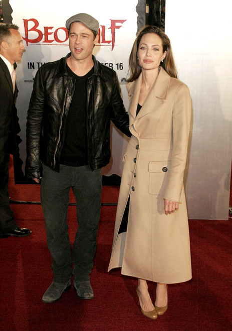 Brad Pitt, Angelina Jolie At Arrivals For Beowulf Premiere, Westwood Village Theater, Los Angeles, Ca, November 05, 2007. Photo By Adam OrchonEverett Collection Celebrity - Item # VAREVC0705NVADH006