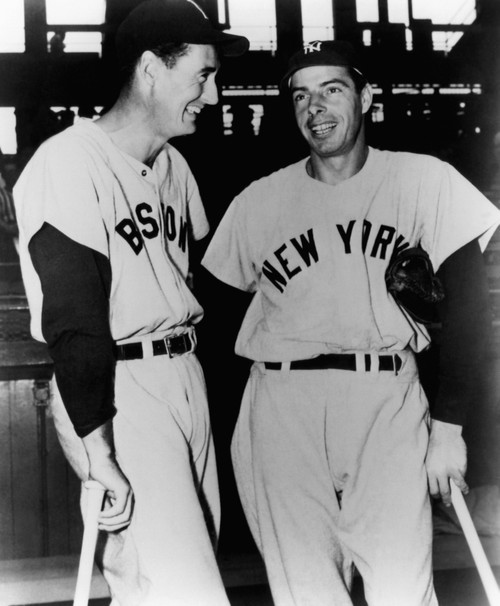 Top Sluggers. Ted Williams Of The Boston Red Sox And Joe Dimaggio Of The New York Yankees. 1951. Csu Archives Courtesy Everett Collection History - Item # VAREVCPBDTEWICS043