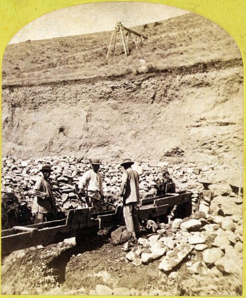 Chinese Men Sluicing. Chinese Miners History - Item # VAREVCHCDLCGCEC258