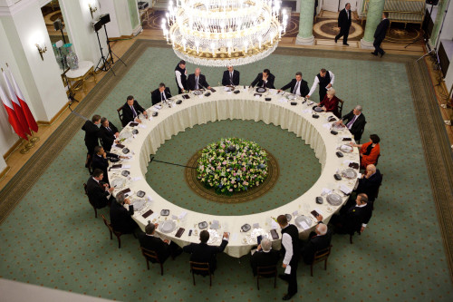 Dinner Meeting Of Central And Eastern European Leaders At The Presidential Palace In Warsaw History - Item # VAREVCHISL039EC721
