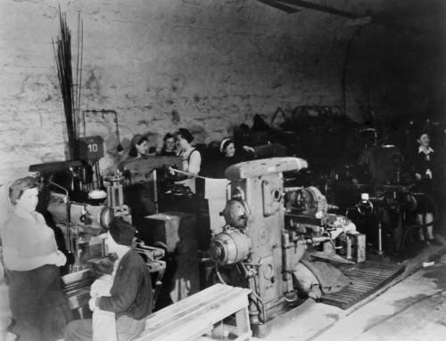 Women Working In An Underground German Armament Factory In 1945. It Was Located In An Unused Railway Tunnel. World War 2. History - Item # VAREVCHISL037EC777