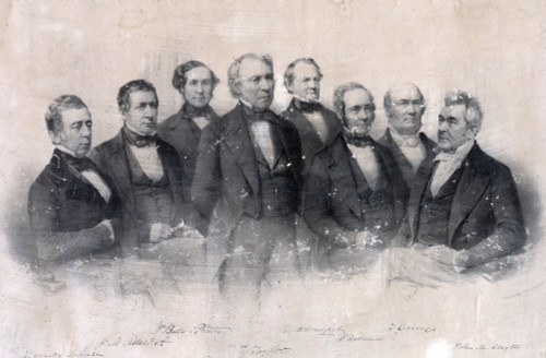 Zachary Taylor. President Taylor Standing In Front Of His Cabinet Officers History - Item # VAREVCHCDLCGCEC996
