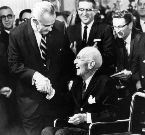 Foreground President Lyndon Johnson History - Item # VAREVCPBDUPSICS006