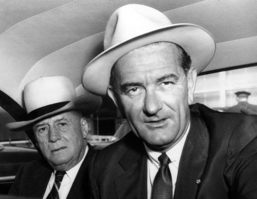 House Speaker Sam Rayburn And Senate Majority Leader Lyndon B. Johnson Enroute To The White House For A Conference With President Eisenhower On The Suez Canal Situation. August 12 History - Item # VAREVCPBDLYJOCS037
