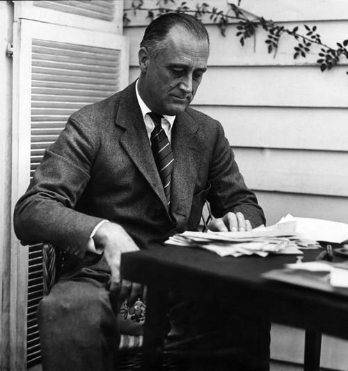 Fdr Presidency. Us President Franklin Delano Roosevelt History - Item # VAREVCPBDFRROEC097