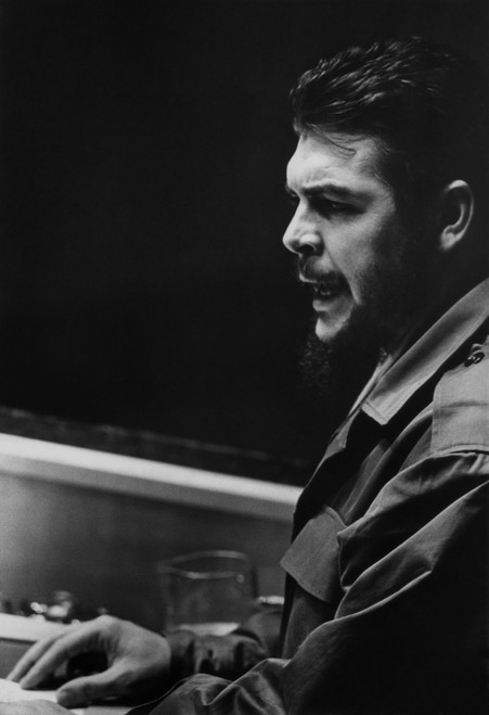 Che Guevara Speaking At The United Nations. He Was Then Cuba'S Minister Of Industries. Dec. 11 History - Item # VAREVCHISL033EC861