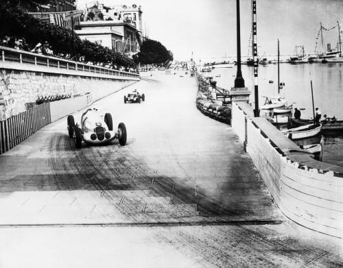 Rudolf Carraciola Leads Hans Stuck In A Road Race Trial For The Grand Prix De Monaco In Monte Carlo History - Item # VAREVCHBDSPORCS001