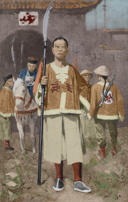 Chinese _Boxer_ Soldiers With A Mandarin Leader History - Item # VAREVCCLRA001BZ396