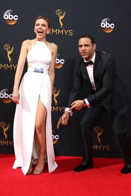 Aimee Teegarden, Daniel Sunjata At Arrivals For The 68Th Annual Primetime Emmy Awards 2016 - Arrivals 2, Microsoft Theater, Los Angeles, Ca September 18, 2016. Photo By Priscilla GrantEverett Collection Celebrity - Item # VAREVC1618S14B5004