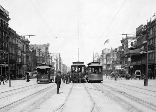 Streetcars On Canal St. History - Item # VAREVCHCDLCGCEC817