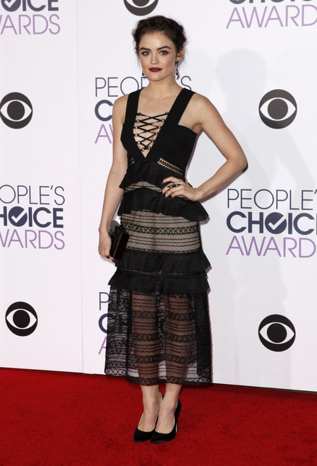 Lucy Hale At Arrivals For People'S Choice Awards 2016 - Arrivals, The Microsoft Theater, Los Angeles, Ca January 6, 2016. Photo By Emiley SchweichEverett Collection - Item # VAREVC1606J04QW075
