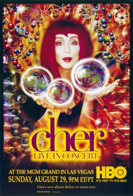 Cher Live in Concert Movie Poster (11 x 17) - Item # MOV275095