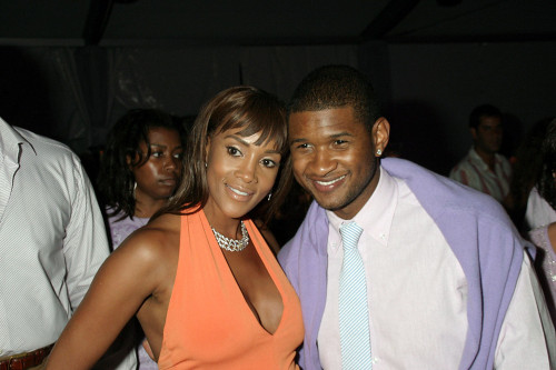 Vivica A. Fox, Usher Inside For Rush Philanthropic Arts Foundation Art For Life Benefit, Estate Of Russell And Kimora Lee Simmons, East Hampton, Ny, July 30, 2005. Photo By Rob RichEverett Collection Celebrity - Item # VAREVC0530JLDOH007