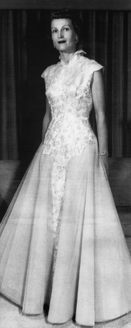 1953 Presidential Inauguration. Second Lady Patricia Nixon In Inaugural Gown History - Item # VAREVCPBDRINIEC048