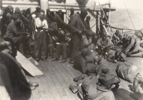 African American Soldiers And White Sailors On Ww1 Troop Ship. July 18 History - Item # VAREVCHISL034EC961