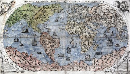 1565 World Map By Paulo Forlani History - Item # VAREVCHISL001EC191