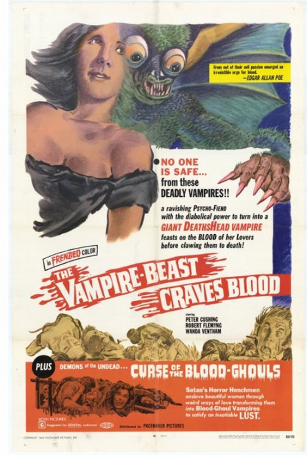 The Vampire Beast Craves Blood Movie Poster Print (27 x 40) - Item # MOVCH0285