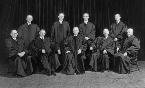 Stone Court. United States Supreme Court Group Portrait. Center Front Is Chief Justice Harlan Stone. Ca. 1943. History - Item # VAREVCHISL018EC132