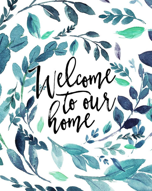 Welcome To Our Home - Blue Poster Print by Tara Moss - Item # VARPDXTA2006