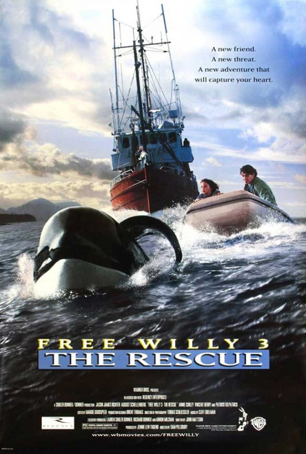 Free Willy 3: The Rescue Movie Poster Print (27 x 40) - Item # MOVAJ2851