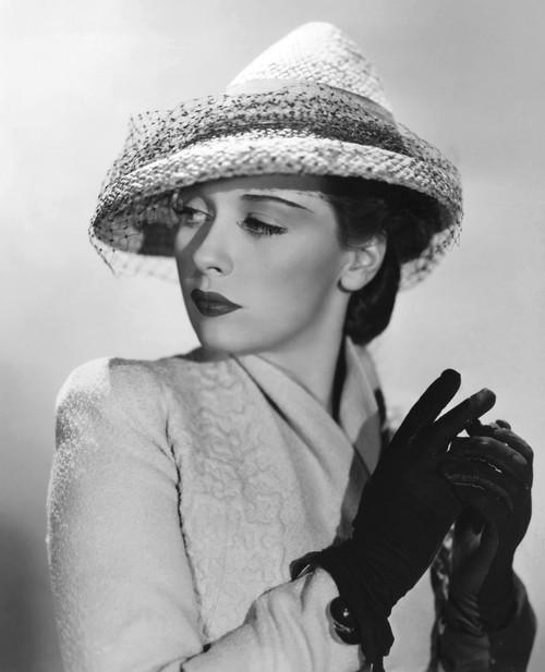 Patricia Morison In Original Model John-Frederics Summer Hat Portrait - Item # VAREVCPBDPAMOEC045