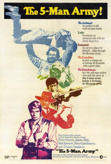 The Five Man Army Movie Poster Print (27 x 40) - Item # MOVCF2425