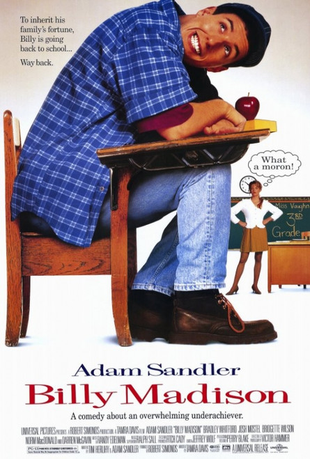 Billy Madison Movie Poster Print (27 x 40) - Item # MOVEF6422
