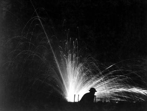 Night Attack With Phosphorus Bombs In Maneuvers. First Corps School At Gondrecourt History - Item # VAREVCHISL034EC610