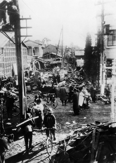 Earthquake Destruction On A Street In Mishawa History - Item # VAREVCCSUA000CS977