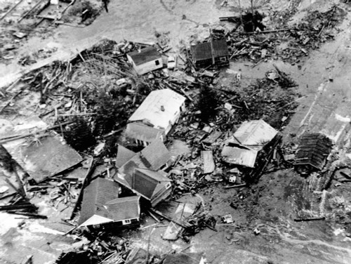 1964 Alaska Earthquake. A 30 Foot High Tidal Wave Caused By The 9.2 Earthquake Destroyed Low Lying Areas Of Coastal Town Of Seward History - Item # VAREVCCSUA001CS307
