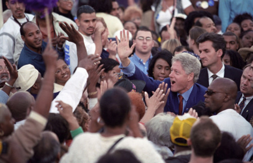 President Bill Clinton At A 'Get Out The Vote' Rally In Los Angeles History - Item # VAREVCHISL039EC952