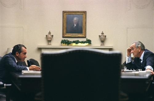 President Lyndon Johnson Meets With Richard Nixon During The 1968 Presidential Campaign On July 26 History - Item # VAREVCHISL033EC127