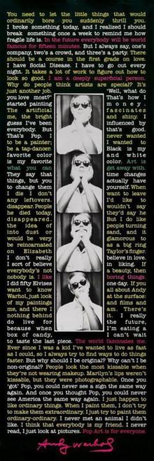 Andy Warhol Quotes Poster Print - Item # VARXPSSP0130