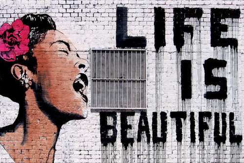 Banksy Billie Holiday Life Is Beautiful Poster Print - Item # VARXPS1608
