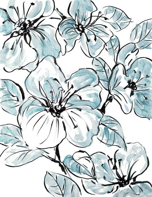 Sketch Floral In Blues II Poster Print by Lanie Loreth - Item # VARPDX13091B