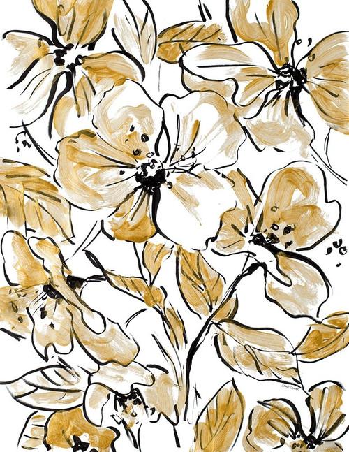 Golden Sketch Floral II Poster Print by Lanie Loreth - Item # VARPDX13090
