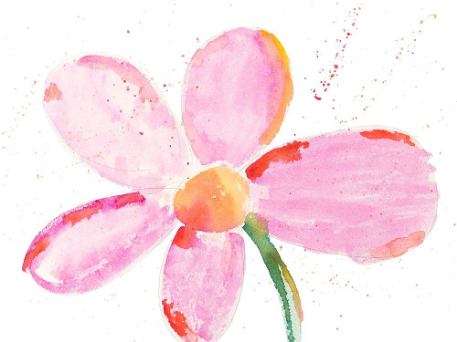 Bubbly Pink Daisy Poster Print by Susan Bryant - Item # VARPDX13395M