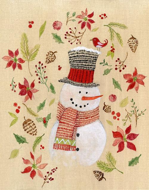Holly Days Snowman Poster Print by Tava Studios - Item # VARPDX40215