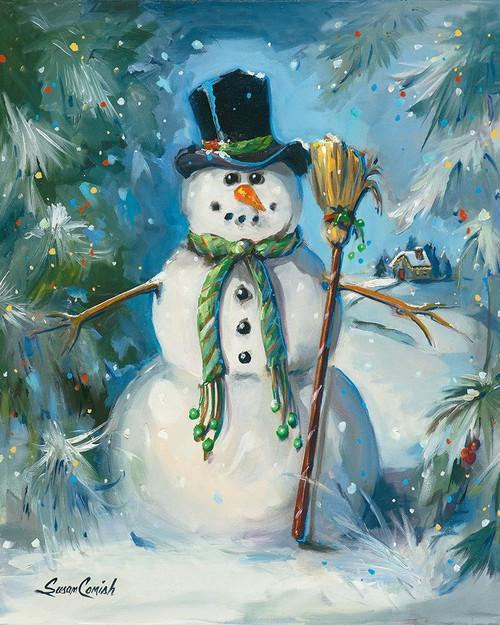 Sweeping Snowman Poster Print by Susan Comish - Item # VARPDXSCM1454