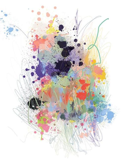 Lavender Wildflower Explosion Poster Print by Niya Christine - Item # VARPDXC1201D