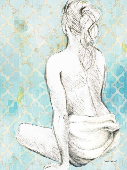 Woman Sitting on Pattern II Poster Print by Lanie Loreth - Item # VARPDX10245D