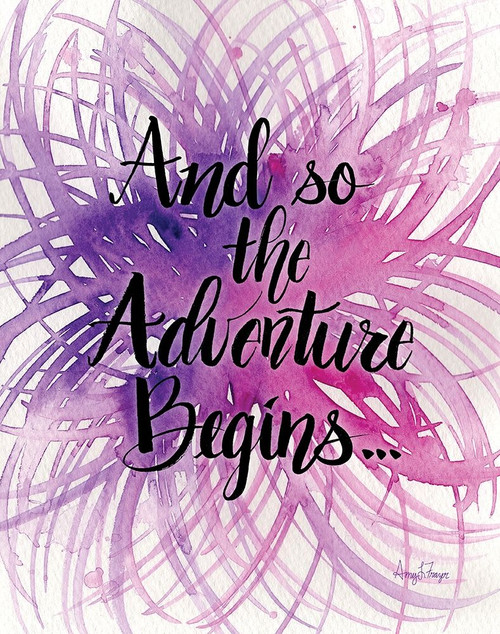 Adventure Begins Poster Print by Amy Frazer - Item # VARPDXFZR107