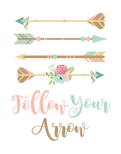 Follow Your Arrow Boho Poster Print by Tamara Robinson - Item # VARPDXTR1996