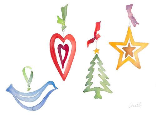 Modern Christmas Ornaments Poster Print by Lanie Loreth - Item # VARPDX12164